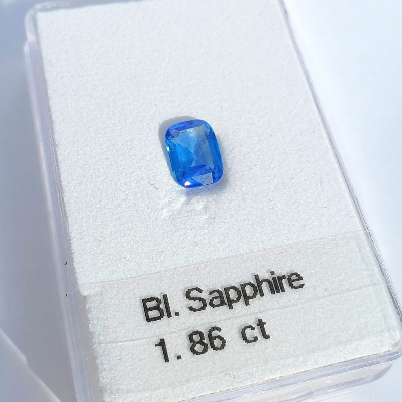 Blue Sapphire Cushion Cut 1.86ct - Gemorex International Inc