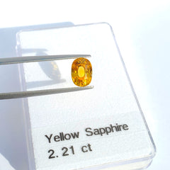 Fancy Color Yellow Sapphire Oval Cut 2.21ct - Gemorex International Inc