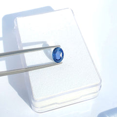 Fancy Color Bluish - Violet Sapphire Oval Cut 1.89 ct - Gemorex International Inc