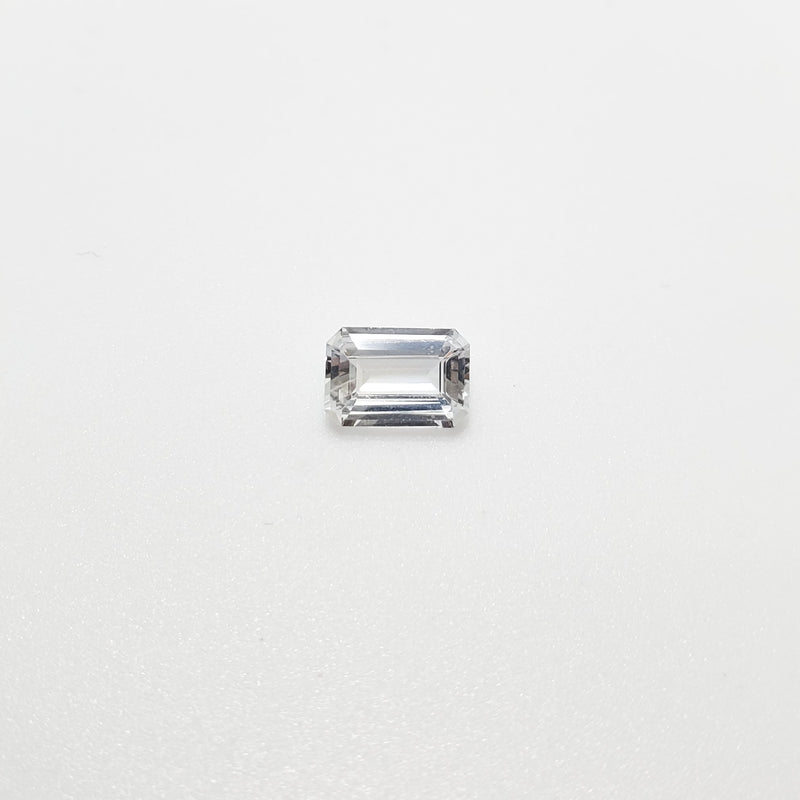 White Sapphire Emerald Cut 1.11 ct - Gemorex International Inc