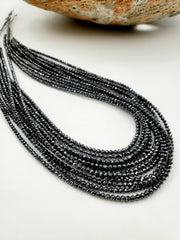 AAA+ Black Diamond Faceted Roundle Beads 2.5-3.0mm - Gemorex International Inc.
