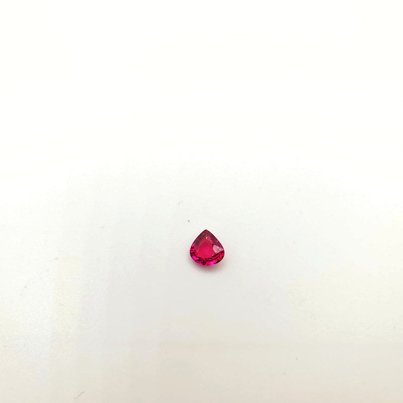 Mozambique Ruby Natural Unheated Pear Shape 6.49 x 6.60mm - Gemorex International Inc