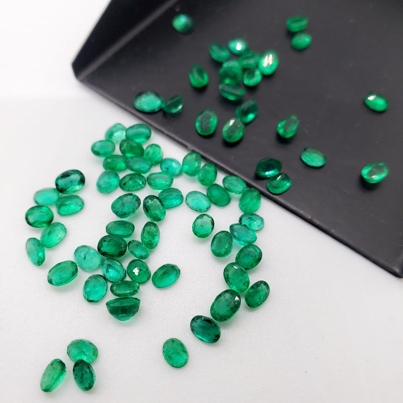 Emerald Oval Cut 3x4mm - Gemorex International Inc