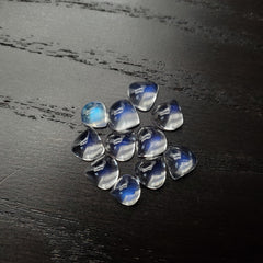 Blue Moonstone Heart Shape Cab 8x8mm