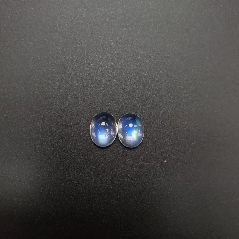 Blue Moonstone Oval Cab 7x9mm - Matched Pair