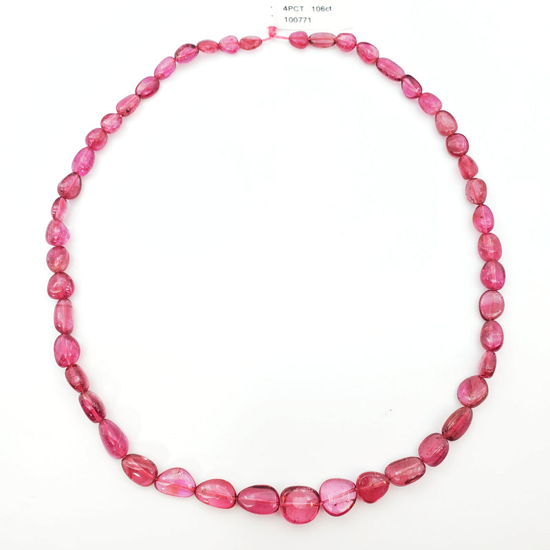 Pink Tourmaline Smooth Nugget / Pebble Shape 9-11mm Beads