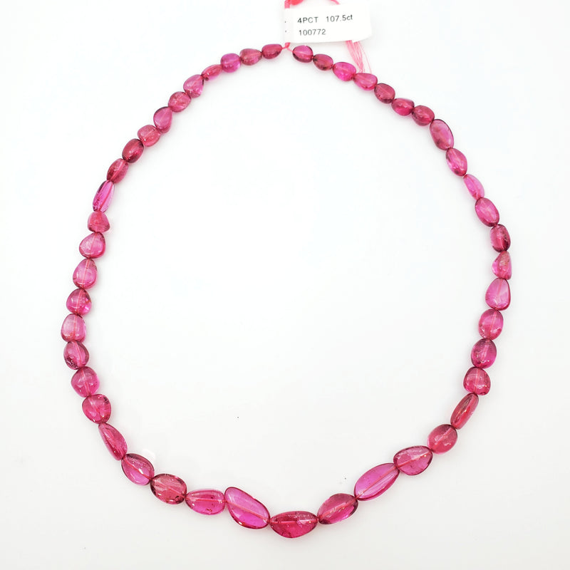 Pink Tourmaline Smooth Nugget / Pebble Shape 7-14mm Beads