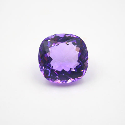 AMETHYST BRILLIANT SQUARE CUSHION CUT 15X15mm - Gemorex International Inc