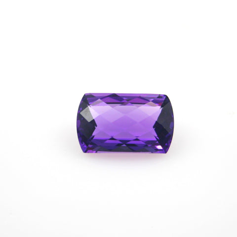 AMETHYST BRILLIANT SQUARE CUSHION CUT 15X15mm