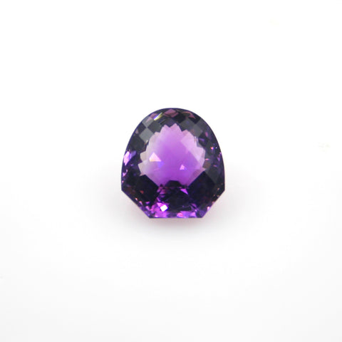 AMETHYST FANCY SHAPE SHIELD CHECKERBOARD TOP 16.5x16mm - Gemorex International Inc