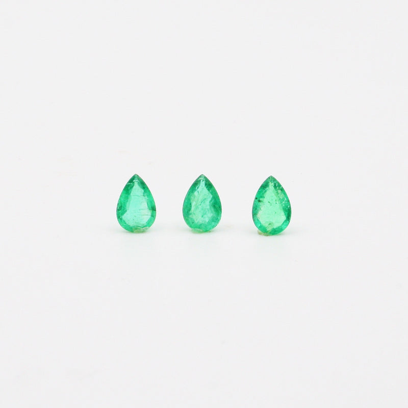 Emerald Pear Shape Brilliant Cut 6mm x 9mm - Gemorex International Inc