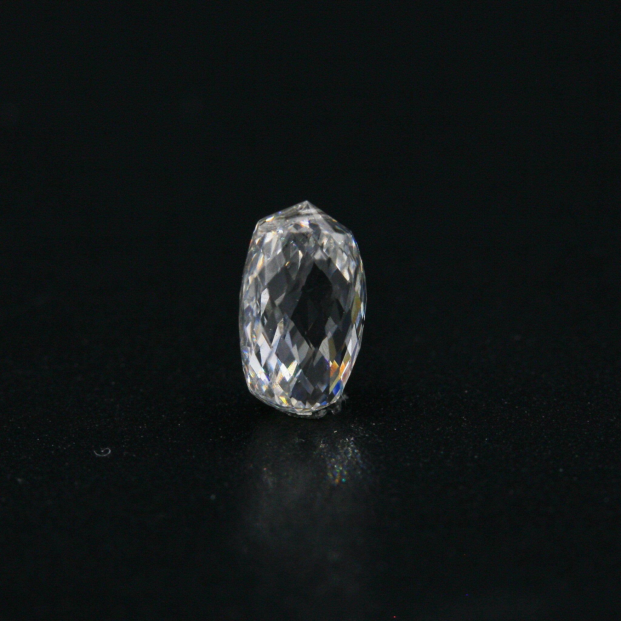 White Diamond Briolette Cut 7x4 - Gemorex International Inc