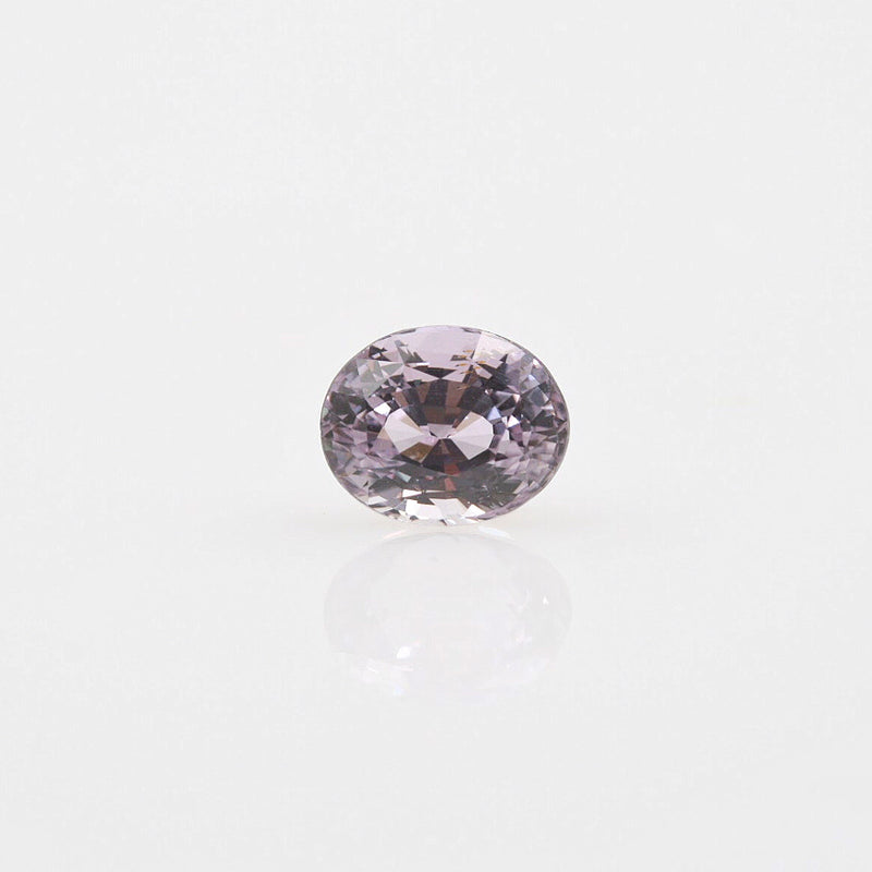 Fancy Color Pastel Lavender Sapphire Oval 2.62ct - Gemorex International Inc