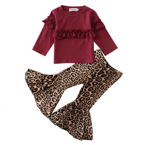 Marie Ruffle Pullover + Leopard Bell Pants