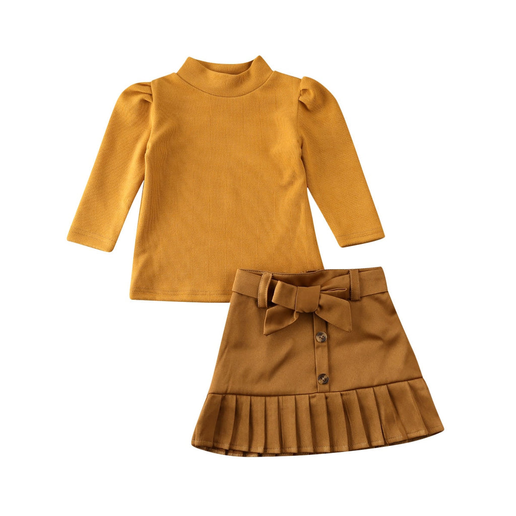 Ira Pullover Top + Bowknot Skirt