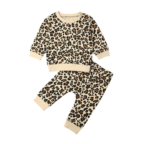 Leopard Pullover Sweater + Pants