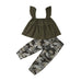 Joanne Ruffle Top + Camo Pants
