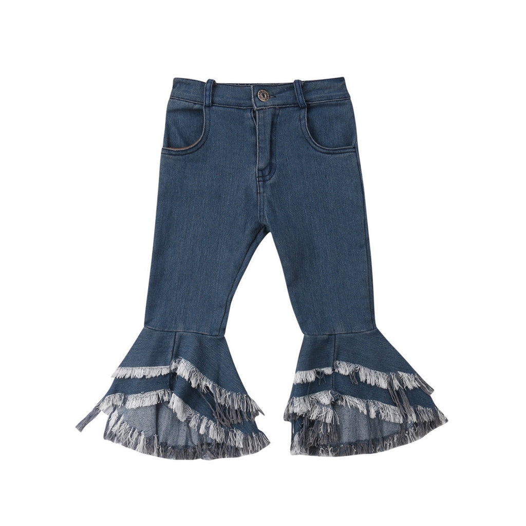 Denim Bell Pants