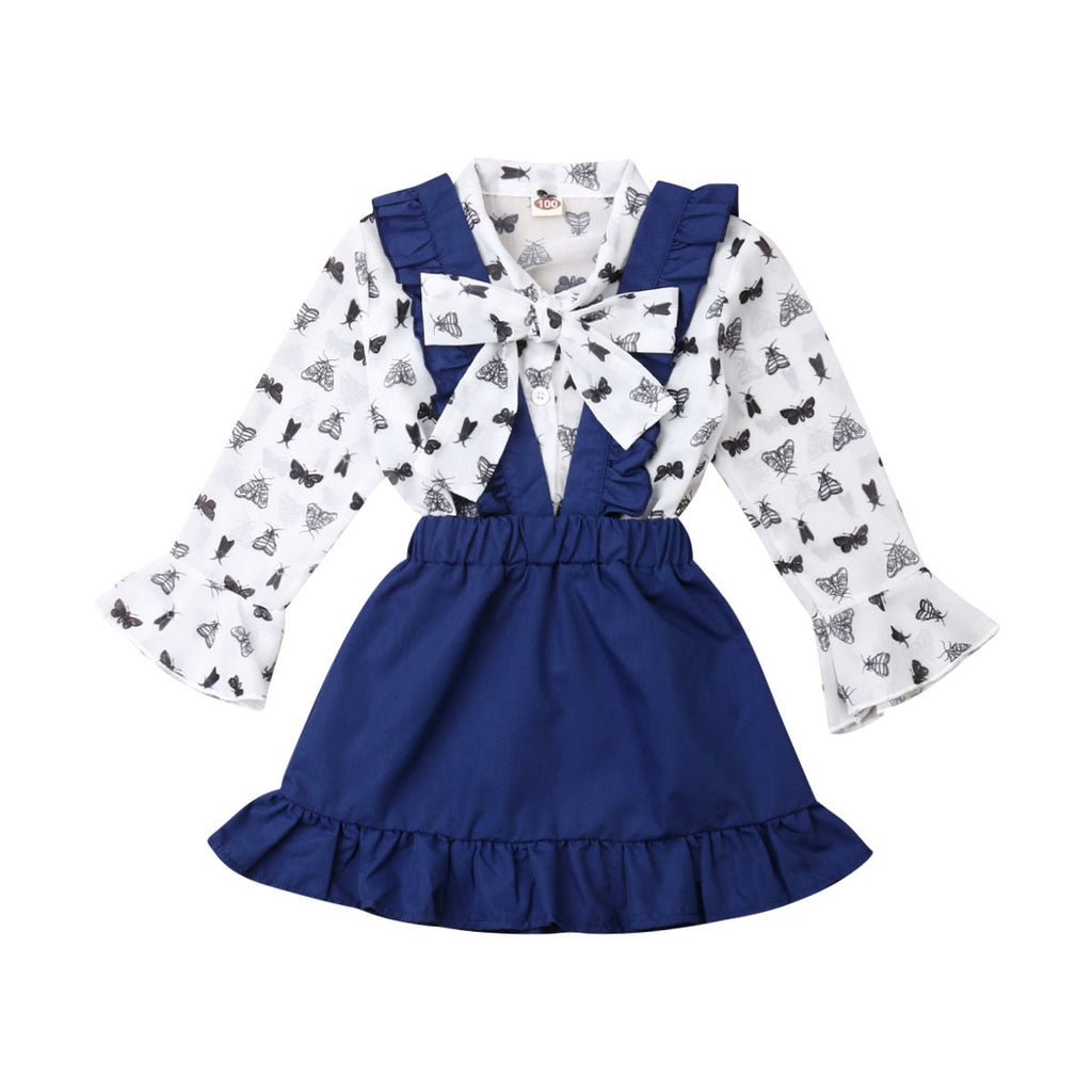 Lesley Butterfly  Bow Top + Overall  Skirt
