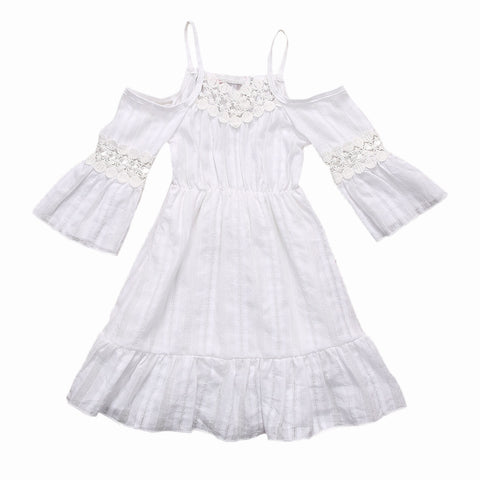 Alessandra Lace Ruffle Dress