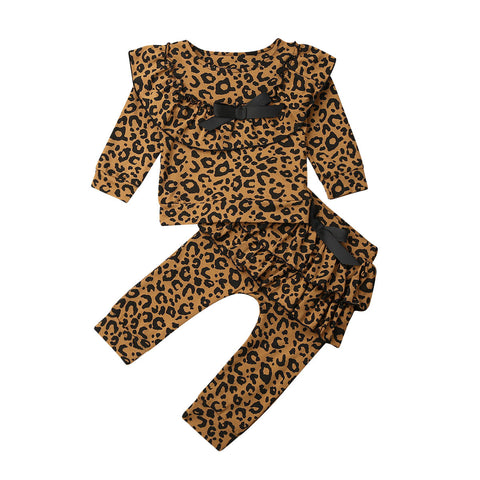 Leopard Ruffle Pullover + Pants