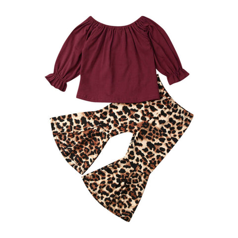 Paula  Ruffled Top + Leopard Bell Pants