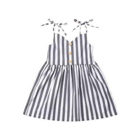 Lyka Stripe Strap Dress