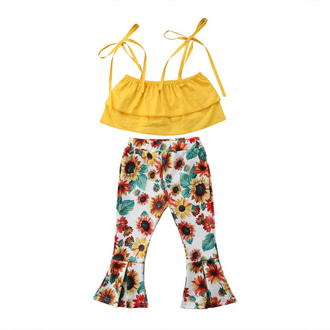 Donna Strap Top + Sunflower Pants