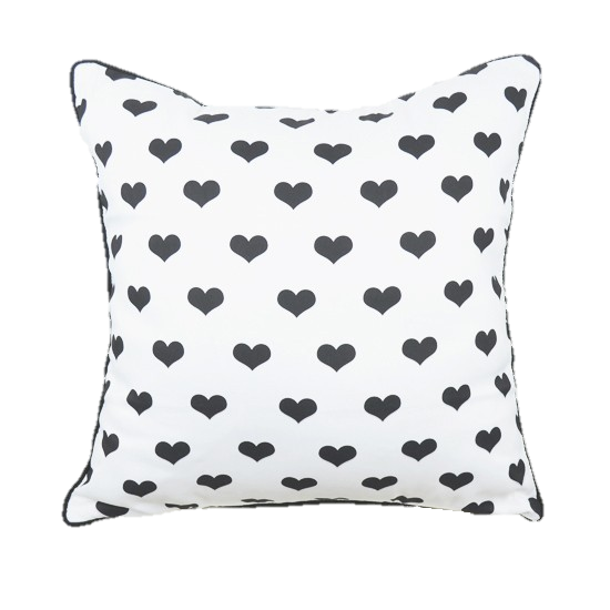 Hearts Pillow Cover