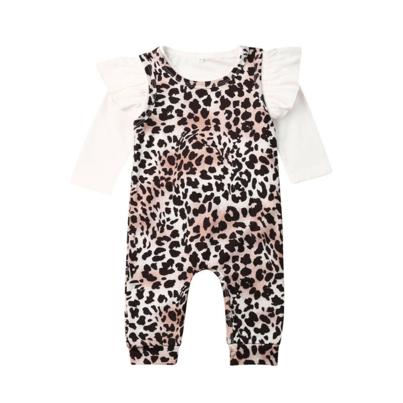 Jennie Ruffle Top + Leopard Jumpsuit