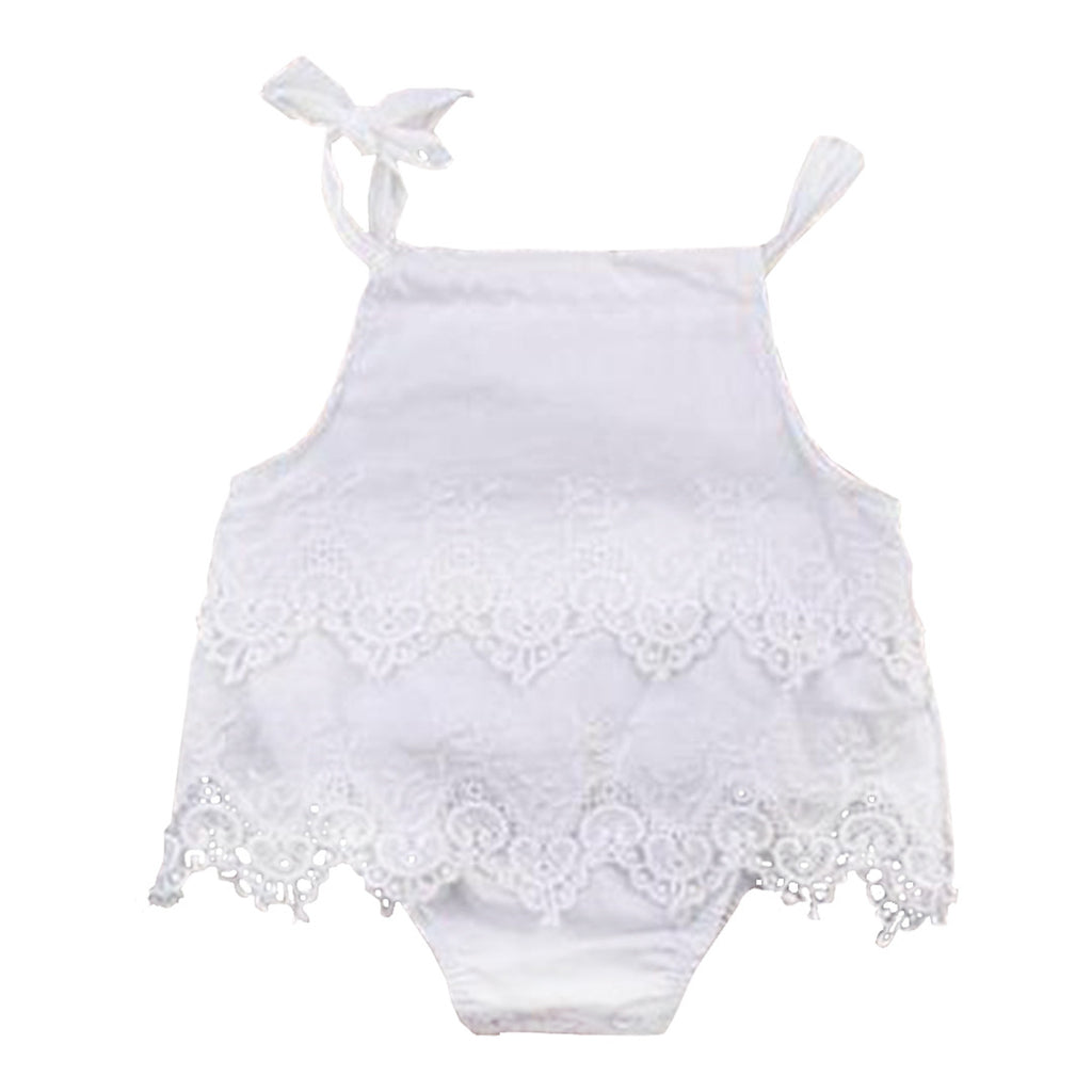 Girls Lace Crocheted Bodysuit