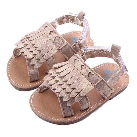 Baby Girls 3 Layer Moccasins Sandals