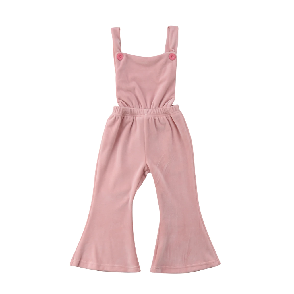 Viola Pink Overall Bell Pants
