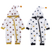 Polka Zipper Hooded Jumpsuit