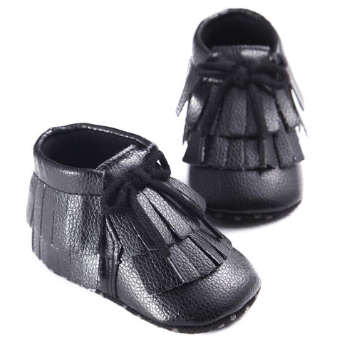 Baby Fringe Leather Moccasins