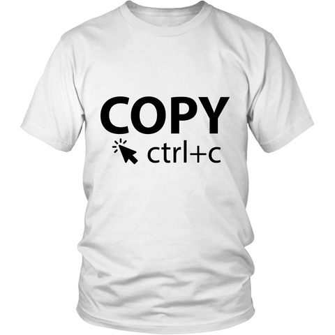 White & Black COPY - Adults Unisex Shirt