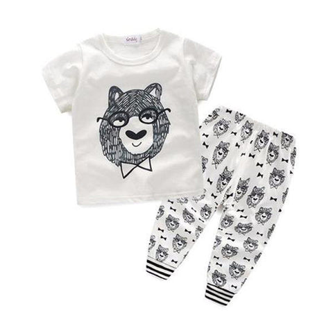 Baby Bear Glasses Clothing Set