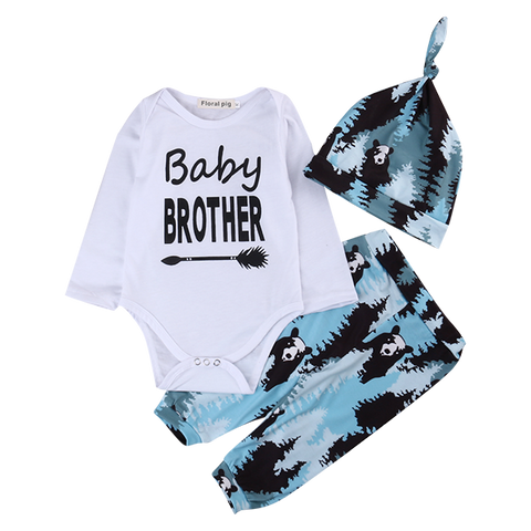 Baby Brother Panda Clothing Set