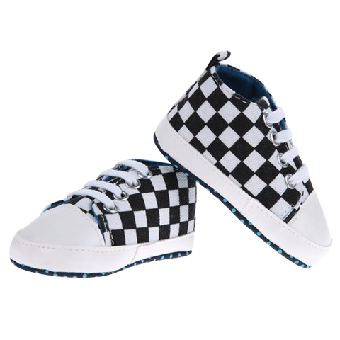 Baby Casual Black&White Shoes