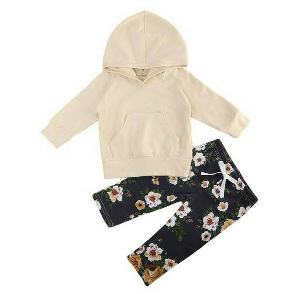 Carmela Hooded Pullover + Floral Pants