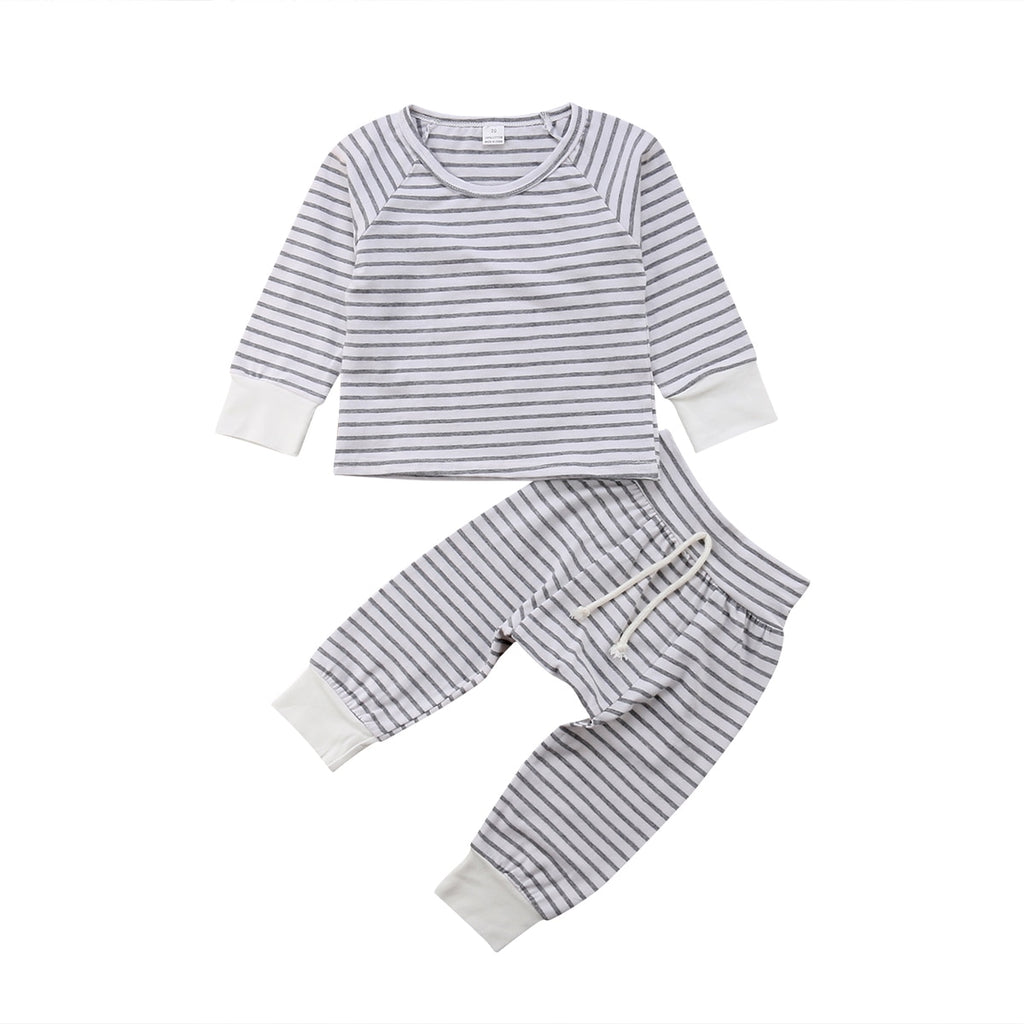 Striped Sleeve Top + Pants
