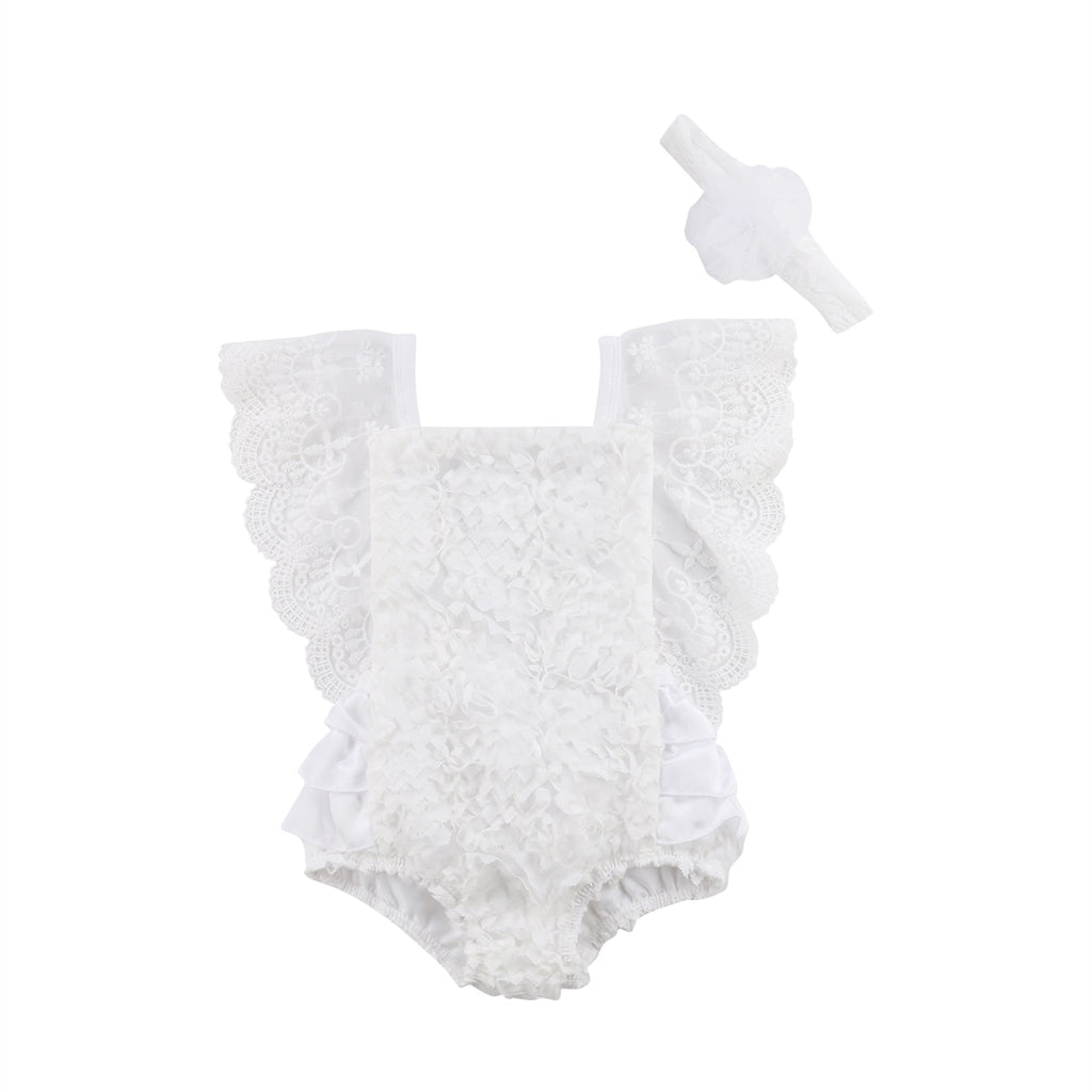 Whitney Lace Romper + Headband