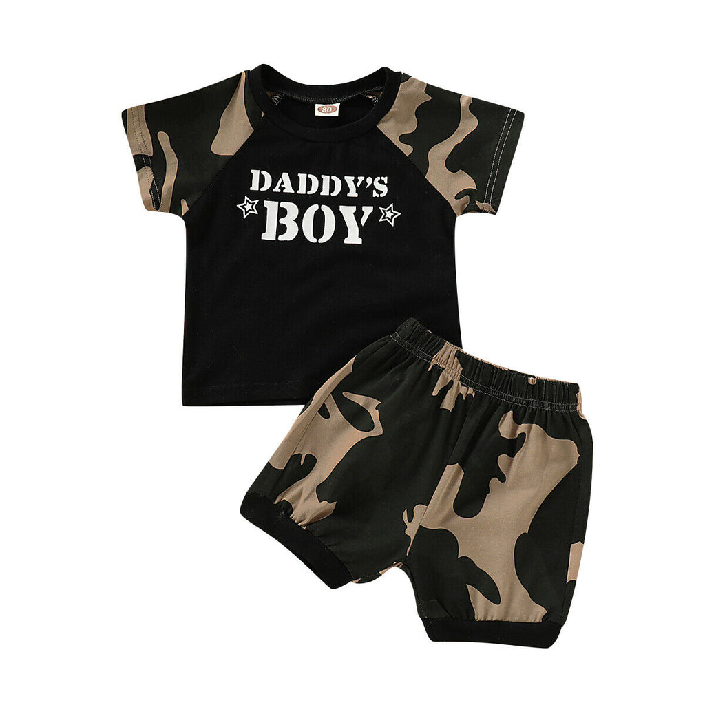 Daddy's Boy Camo Top + Shorts