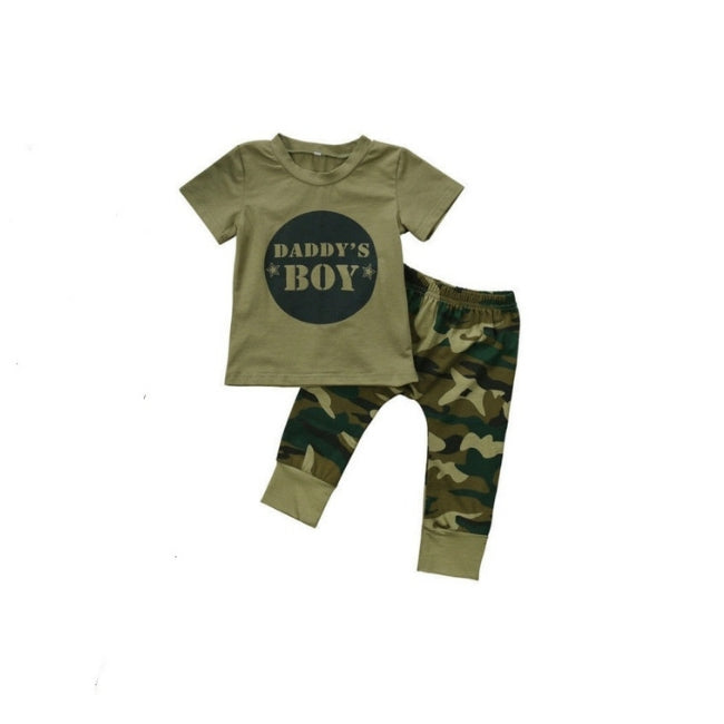 Daddy's Boy Camouflage Clothing Set