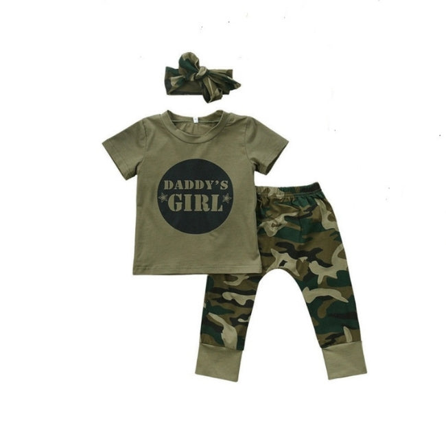 Daddy's Girl Camouflage Clothing Set
