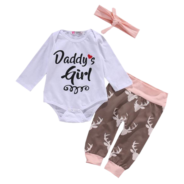 Daddy's Girl Deer Clothing Set