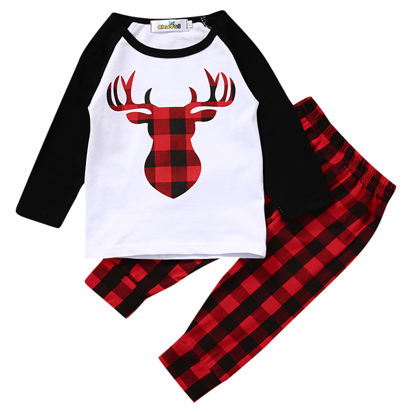 Deer Red and Black Clothing Set