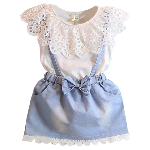 Denim Lace Dress