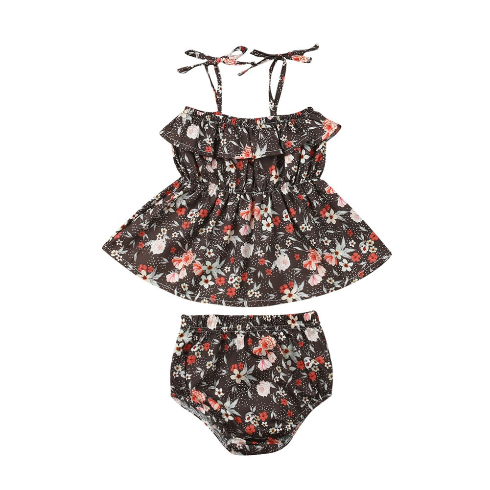 Floral Strap Mini Dress + Shorts