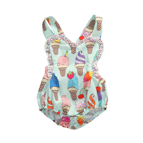 Ice Cream Ruffle Romper